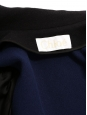 Mid-length cinched black and navy wool and angora coat Retail price £3150 Size 38