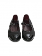 Black leather and satin Mary Jane ballet flats Retail price €360 Size 37