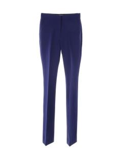 Pantalon droit slim fit en crêpe de laine bleu foncé Prix boutique 480€ Taille 34