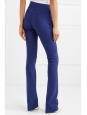 Dark blue wool crepe straight leg pants Retail price €480 Size 34