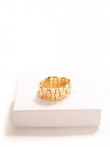 Bracelet manchette TILLY damier en laiton doré Prix boutique $515 Taille M/L