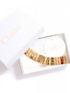TILLY Gold-tone brass woven squares cuff bracelet Retail price €420 Size M/L