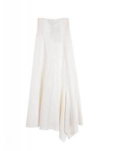 Jupe POETIC longue taille haute en laine blanc ivoire Prix boutique 460€ Taille 36
