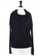 Pull col châle ou épaules nues en laine noire Prix boutique 650€ Taille 36