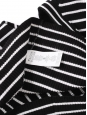 Black and white striped ribbed knit sleeveless body con dress Size XS