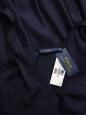 Robe en satin bleu nuit longue décolletée V dos nu sans manche Prix boutique $398 Taille 38