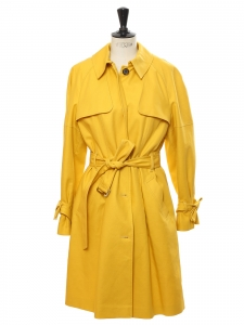 Sunflower yellow cotton trench coat Retail price €300 Size 40