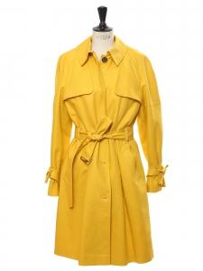 Trench en coton jaune tournesol Prix boutique 300€ Taille 40