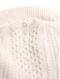 3/4 sleeves ecru white wool cable knit sweater Size XS