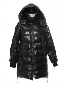 Manteau PARADISE doudoune noire en plumes Prix boutique 600€ Taille 34