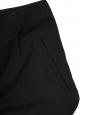 MEGEVE Black woven tapered pants Retail price €265 Size S