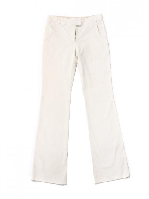 Cream white corduroy flared pants Retail price €350 Size 36