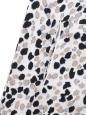 Round neckline white, blue, black, beige and blue spotted sweater Retail price €690 Size 36