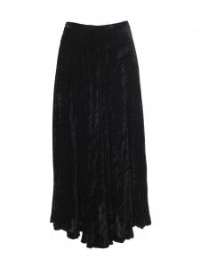 Jupe longue taille haute en velours noir Prix boutique 1100€ Taille 36