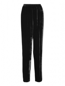 Camilla black velvet high waist track pants Retail price $770 Size XS