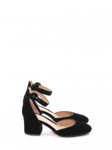 Escarpins Camille en velours noir à bride cheville et talon 6cm Prix boutique 685€ Taille 36,5