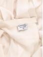 Jupe longueur midi en soie plissée blanc rosé Prix boutique 2000€ Taille 36/38