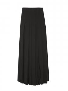Jupe longue en crêpe plissé noir Prix boutique £1600 Taille 34/36