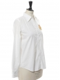 White cotton long sleeves shirt with yellow patch Retail price €140 Size S