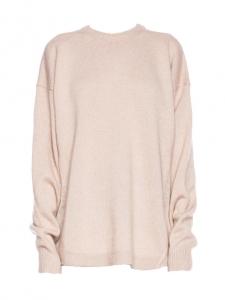 Pull DEMI MIX oversized col rond en laine mélangée beige rosé Prix boutique $430