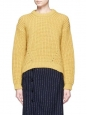 HIRA honey yellow heavy knit wool sweater Retail price $700 Size 36