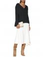 Poetic drape ivory white wool blend high waist maxi skirt Retail price €460 Size 36