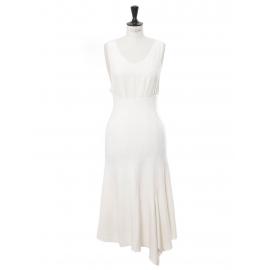 Poetic drape camelia white wool blend high waist maxi skirt Retail price €460 Size 36