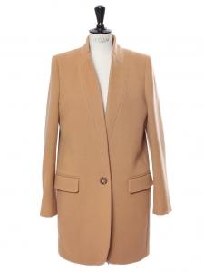 BRYCE camel brown melton wool blend coat Retail price €1095 Size 40
