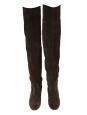 Bottes cuissardes en suède marron chocolat Px boutique 1190€ Taille 36