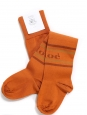 Intarsia orange cotton-blend over-the-knee socks Retail price $150