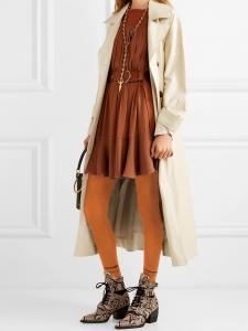 Intarsia orange cotton-blend over-the-knee socks Retail price $150