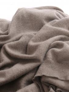 Beige grey cashmere wool turtleneck sweater Retail price €480 Size XL