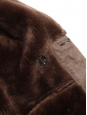 Hazelnut brown shearling double breasted jacket Size L