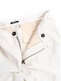 Cream white cotton chino pants Retail price €120 Size XS