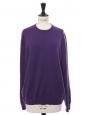 Pull col rond en cachemire violet foncé NEUF Prix boutique 500€ Taille 38 à 40