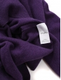 Dark purple cashmere round neck sweater Retail price €500 NEW Size 38 to40