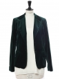 English green velvet blazer jacket Retail price €450 Size 36