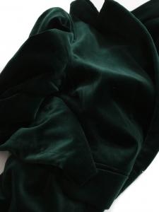English green velvet blazer jacket Retail price €450 Size 36