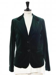 Veste blazer en velours vert anglais Prix boutique 450€ Taille 36