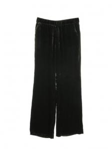 Pantalon fluide évasé en velours vert foncé Prix boutique €415 Taille 38