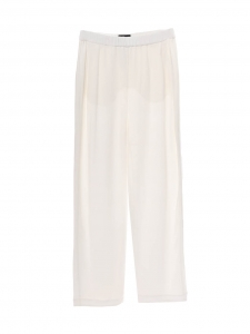 White crepe fluid wide leg pants Retail price €850 Size 38