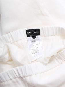 White crepe fluid wide leg pants Retail price €850 Size 38