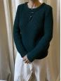 Dark green wool heavy Irish knit sweater Retail price €290 Size XS