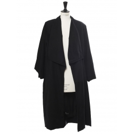 Black wool mid-length coat Retail price €1200 Size 40