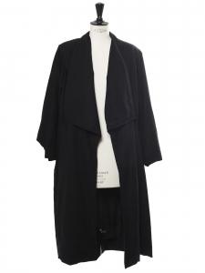 Manteau long en laine noire Taille 40