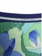 FLEUR DE LOTUS printed white blue and green silk twill square scarf Retail price €350 Size 90 x 90