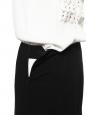 Midi length pleated high waist black crepe skirt Retail price €1000 Size 36/38