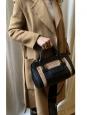 Sac ALICE à main et bandoulière en cuir noir et camel Small Prix boutique 1250€