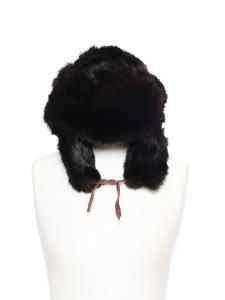 Chapeau chapka en fourrure brun noir Taille S / 56