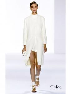 Ivory white silk-blend mandarin collar coat NEW Retail price €1600 Size 38